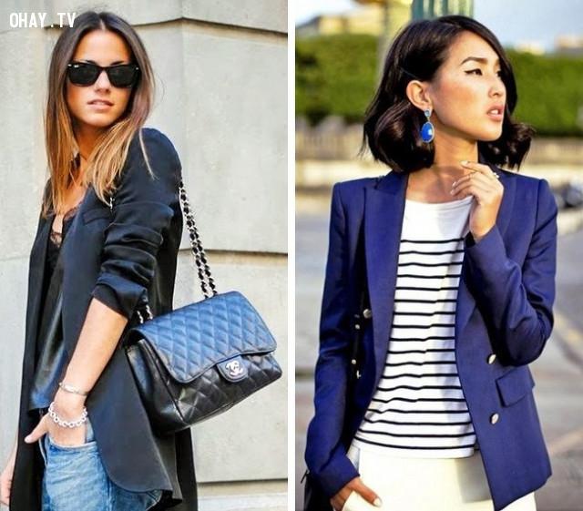 Áo khoác,mẹo thời trang,cách ăn mặc,nổi bật trước đám đông