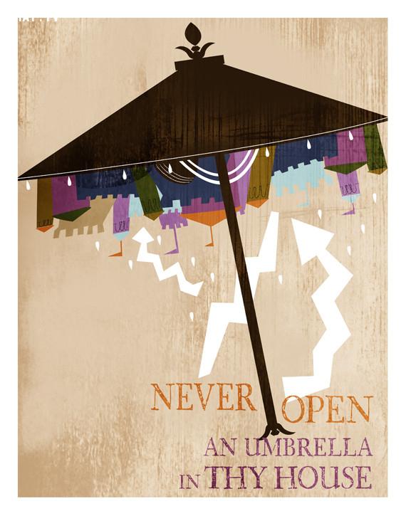 Không nên mở dù trong nhà,thứ 6 ngày 13,ngày xui xẻo,tâm linh