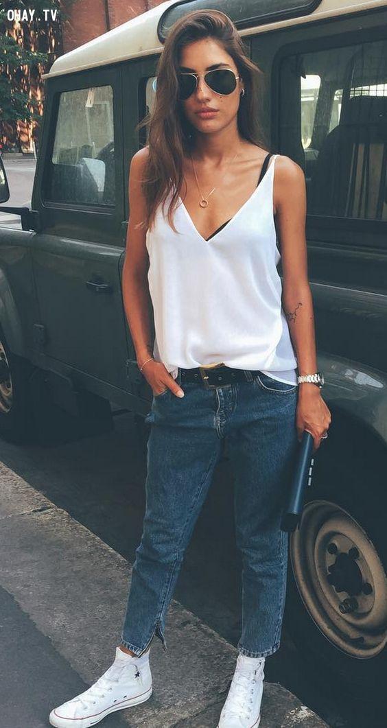 Áo 2 dây camisole,xu hướng thời trang,thời trang hè