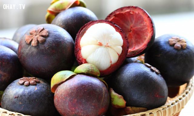 8. Măng cụt,hoa quả,buổi tối