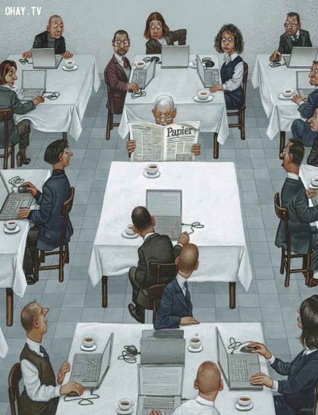 1,ảnh biếm họa,thực trạng cuộc sống,ảnh châm biếm,Gerhard Haderer