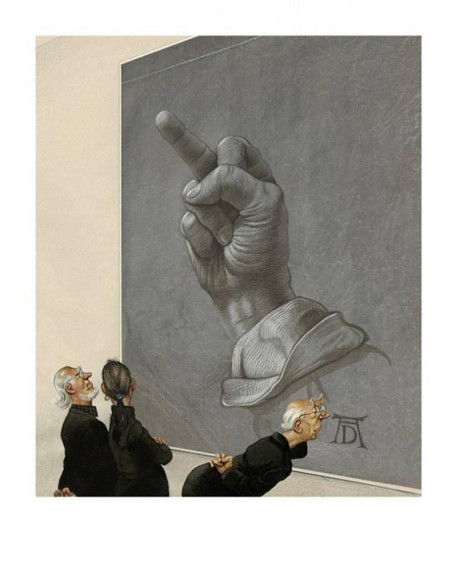 5,ảnh biếm họa,thực trạng cuộc sống,ảnh châm biếm,Gerhard Haderer