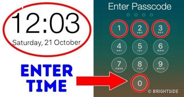 2. Biến thời gian thành password mở khóa màn hình,