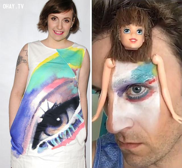 Tom cosplay Lena Dunham,Cosplay
