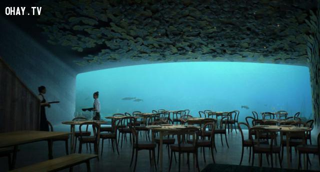 ,du lịch châu Âu,nhà hàng dưới nước,du lịch Na Uy