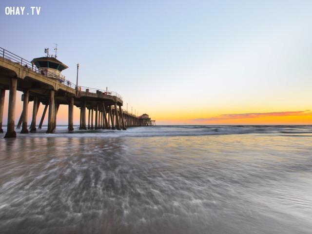2. Biển Huntington ,bãi biển,trên ảnh và thực tế