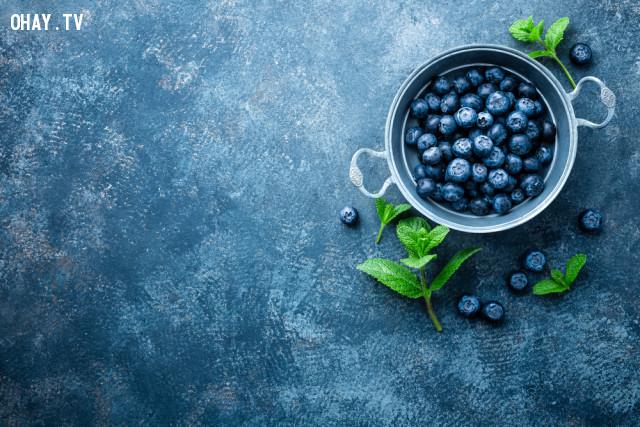 1. Quả việt quất (Blueberries),lão hóa,thực phẩm tốt cho sức khỏe