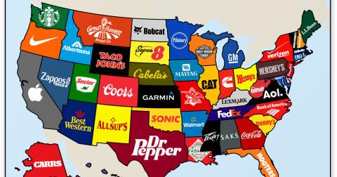 Những thương hiệu mang tính biểu tượng cho các tiểu bang của nước Mỹ