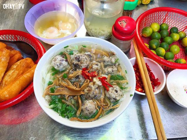 2. Bún mọc ,du lịch Hà Nội,ăn gì Hà Nội,ăn sáng