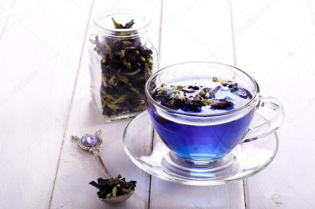 4. Trà hoa đậu biếc,uống trà,trà hoa