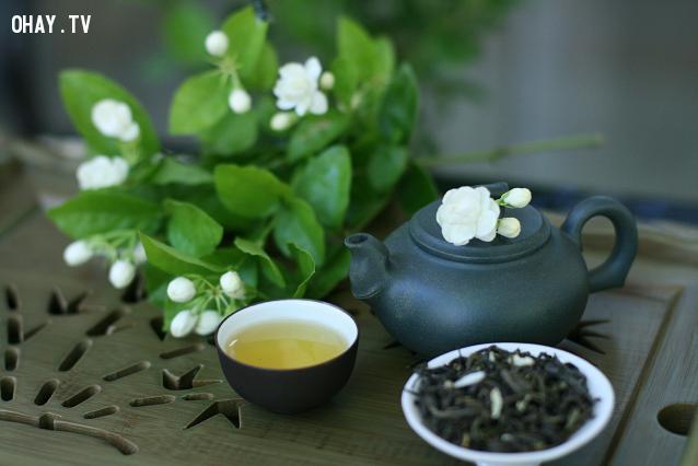3. Trà hoa nhài,uống trà,trà hoa