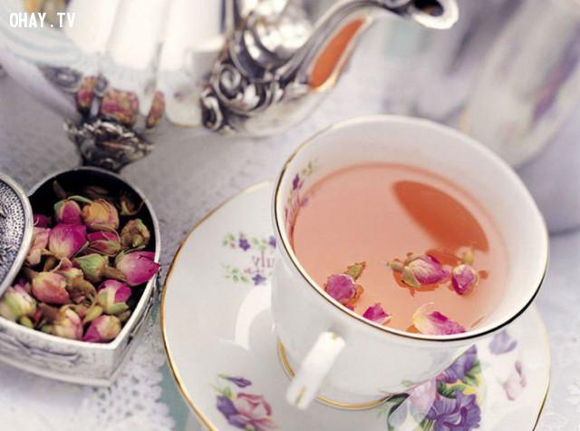 1. Trà hoa hồng,uống trà,trà hoa