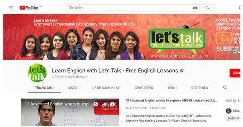 13 kênh Youtube tự học tiếng Anh cho người mất gốc