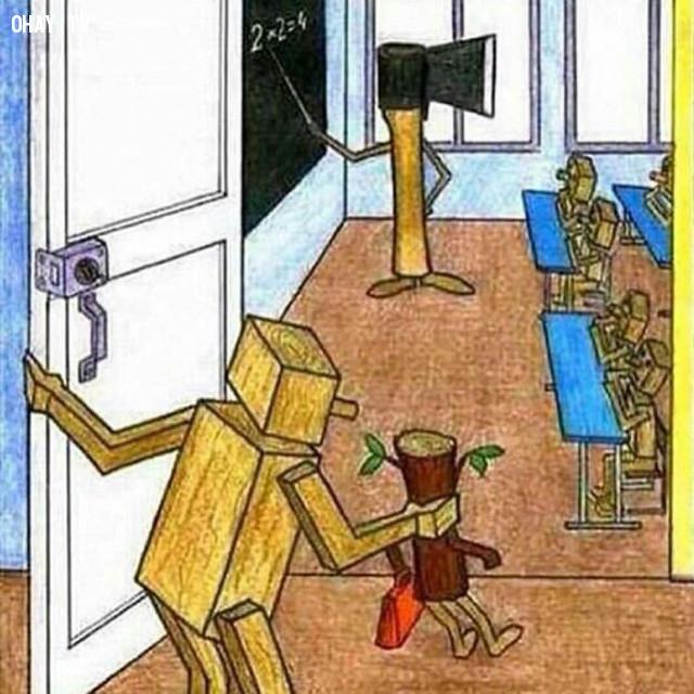Bạn hiểu thế nào về bức hình này?