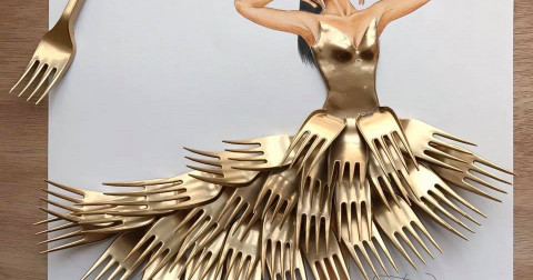 Nghệ thuật độc đáo của những bộ váy được lấy cảm hứng từ những đồ vật thường ngày