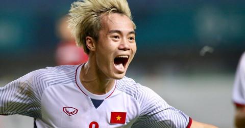 Văn Toàn ghi bàn lập đại công đưa Olympic Việt Nam vào bán kết ASIAD 2018