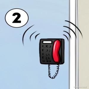 2. Trả lời cuộc gọi điện thoại trước
