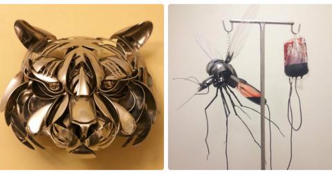 Hô biến dao, muỗng, nĩa cũ thành những tác phẩm nghệ thuật