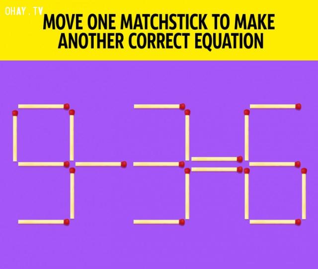 3. Hãy di chuyển một quy diêm để có được một phương trình đúng khác.,câu đố hại não,trắc nghiệm,giải đố