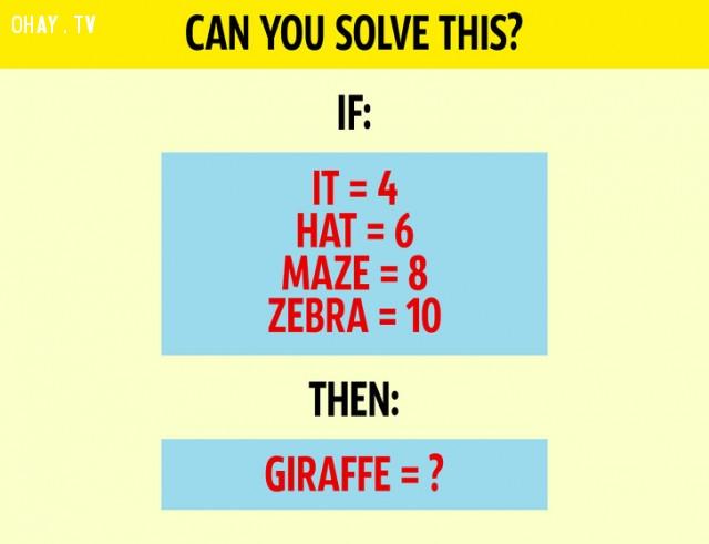 4. Bạn có thể giải câu đố này không?,câu đố hại não,trắc nghiệm,giải đố