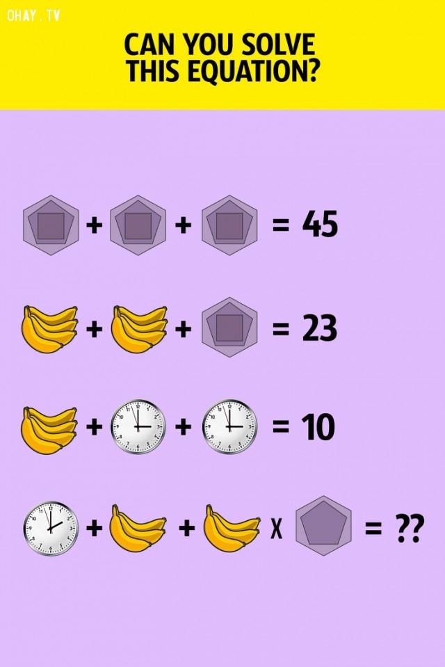 8. Và cả phương trình này nữa, bạn có giải được không?,câu đố hại não,trắc nghiệm,giải đố