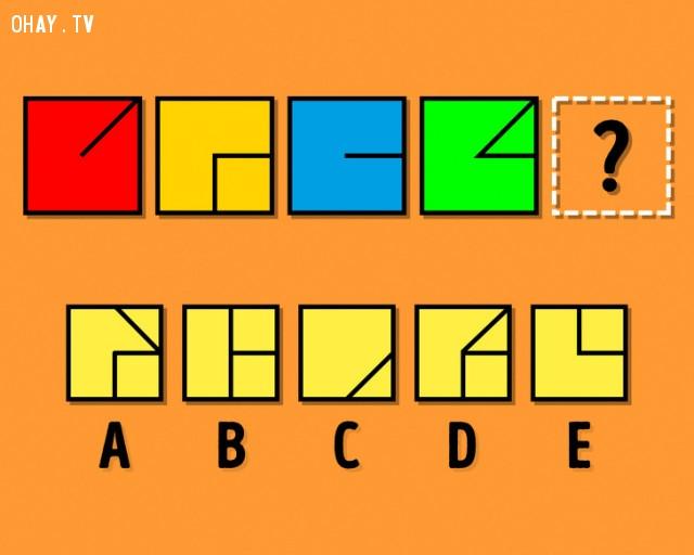 4. Hình nào phù hợp điền vào dấu chấm hỏi?,thử tài tinh mắt