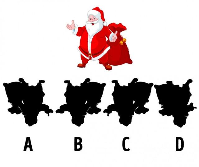 2. Đâu là bóng của ông già Noel?,thử tài tinh mắt